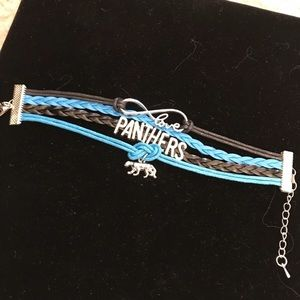 Jewelry - 🎈SALE🎈NFL Leather Charm Bracelet - Panthers NWOT